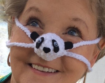 Panda Nose Warmer, Winter Nose Cover, Unisex, Outdoor Sporting Event, Games, Office Party Favors Christmas Teacher Gift, Winter Accessories