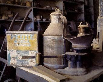 Boone Store Still Life - Bodie, California ghost town - home, office, den, wall decor