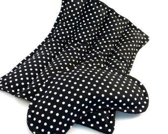 Microwave Packs, Rice Flax Heating Pads Eye Pillow, Hot Cold Comfort Packs, black white