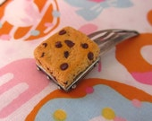 Chocolate Chip Blondie Hair Clip - Polymer Clay Blondie Brownie