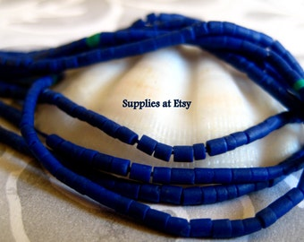Royal-Cobalt Blue lapis lazuli Heishi Stone beads 2mm Approx-Strand Tube shape Navy Blue gemstone-Sale Strand Dainty  Stone beads