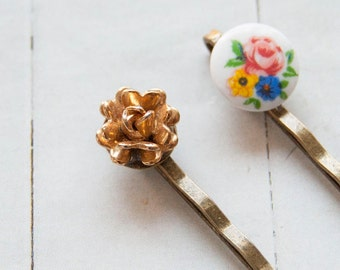 Fleur - bobby pins with tiny treasures