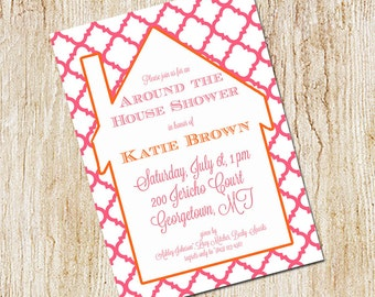 Around the house shower invitation- bridal shower invitation- Digial File, print yourself