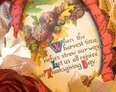 Handmade Vintage Style Thanksgiving Decoration Hanging Plaque