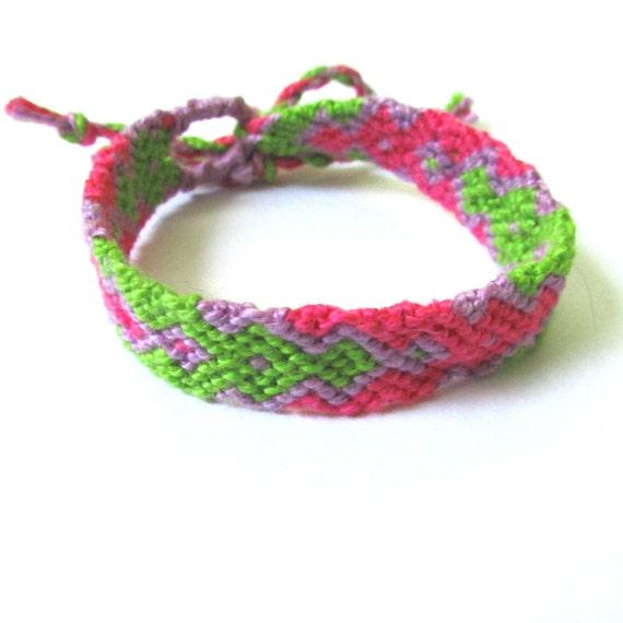 friendship bracelet pink waterfall