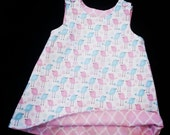 Shift Dress - Girls Spring Dress - Toddler Girl Dress - 1st Birthday Dress - Birds - Groovy Gurlz