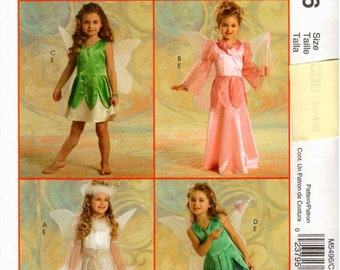 McCall's UNCUT Costume Pattern M5496 - Children's Fairy Costumes - 2-5
