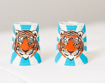 Tiger Cuffs (pair) blue