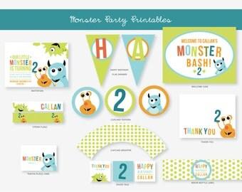 Monster Birthday Party Package - DIY Printable