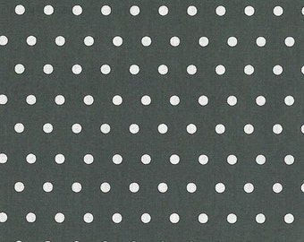 Cotton Fabric •  laminated • Dots anthracite 0.54yd (0.5m) 002075