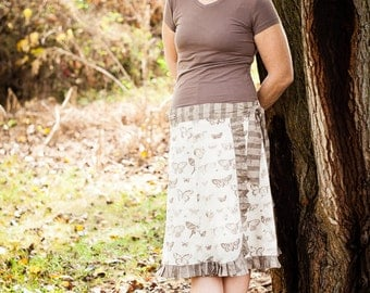 Ruffled Wrap Skirt PDF Pattern