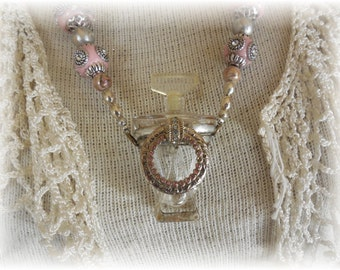 Perfume Bottle Necklace #3 Perfectly Paris Pink On Sale