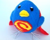 Super Hero Needle Felted Bird - Wool Felted Chick - Easter Decoration