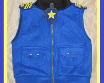 Paw patrol chase inspired jacket vest