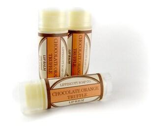 Chocolate Orange Truffle Lip Balm, Handmade Lip Balm, Phthalate Free Lip Balm, Unsweetened Lip Balm, Chocolate Lip Balm