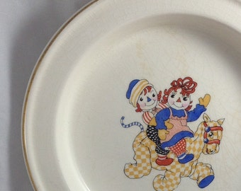 Raggedy Ann and Andy Child's Dish or Plate