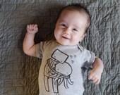 Robot Hugging Octopus Baby Bodysuit