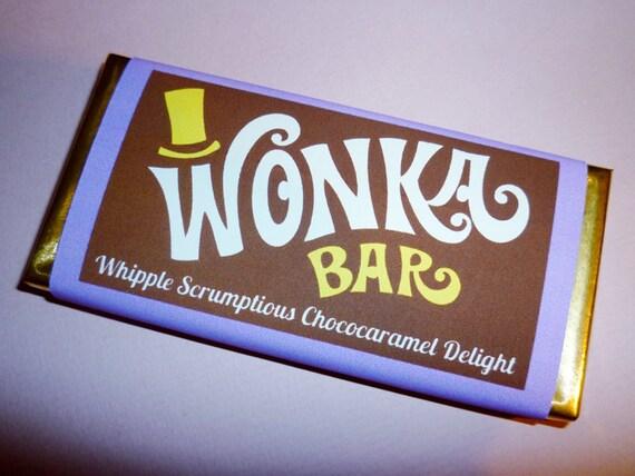 Wonka Bar wrappers Wonka Bar candy bar wrapper by ...