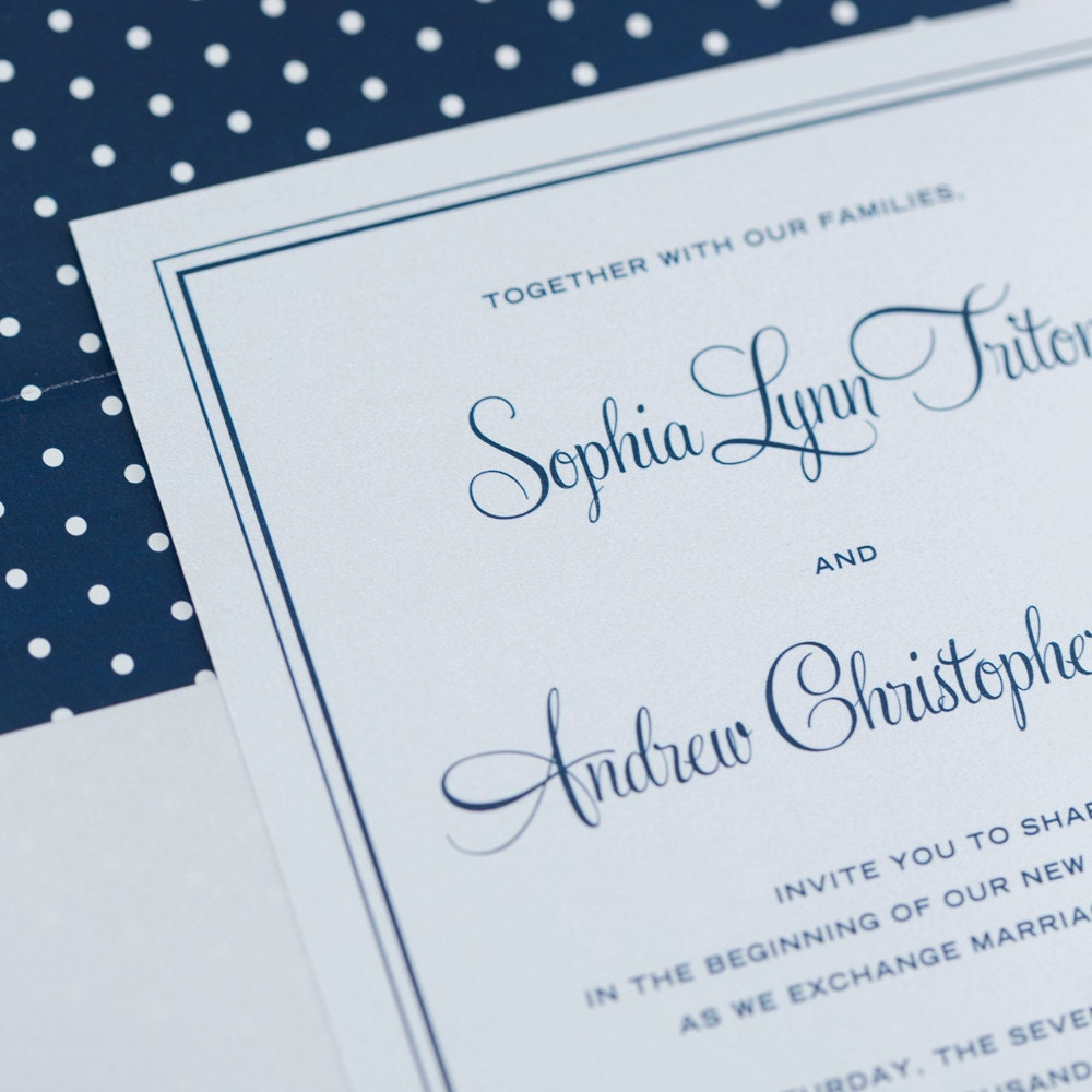 polka dot invitation onepaperheart stationary invitations