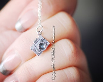 NEW - Camera Necklace - Solid 925 Sterling Silver Charms  - Free Domestic Shipping