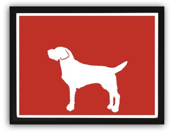 Wirehaired Vizsla Dog Art - Vizsla Gifts, Dog Gift Ideas, Dog Print, Gift For Dog Lovers, Dog Wall Art, Gifts for her