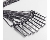 Mens Personalized Necklace Latitude Longitude Coordinates Unisex