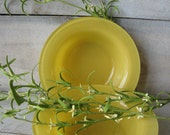 Fire King Yellow Soup Cereal bowls Anchor Hocking Glass bolws