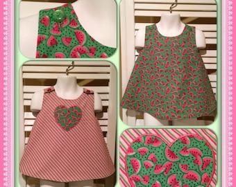 Reversible Watermelon Valentines Dress