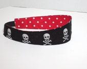 Glitter Skull headband - adult headband Skull reversible headband