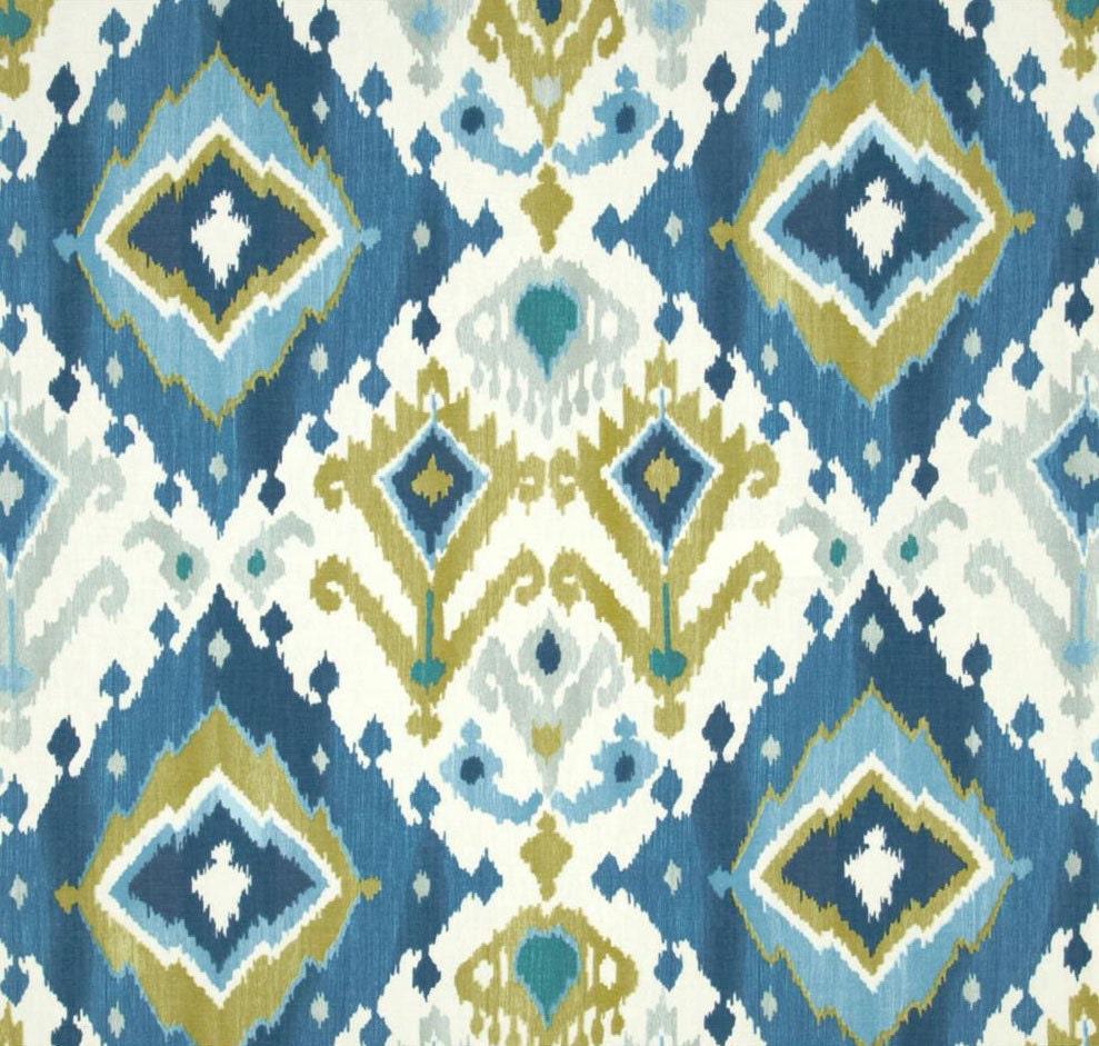 Blue Ikat Window Curtains Blue Curtain by asmushomeinteriors