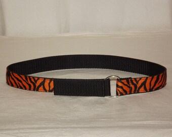 Orange Tiger Toddler Belt