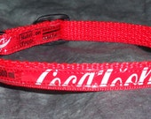 RESERVED FOR LC  2-Adjustable Cat Collars w/Breakaway Clasp from Recycled Coca-Cola Soda Bottle Labels