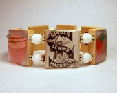 Sewing Bracelet / SCRABBLE Jewelry / Unusual Gifts / Seamstress / Handmade / Handcrafted