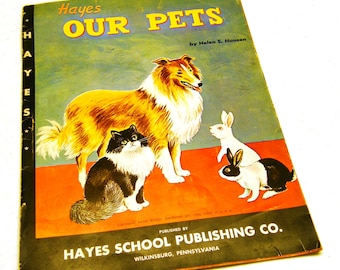 1962 Our Pets educational lithographic print posters (9)