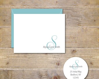 Personalized Note Cards . Personalized Stationery . Personalized Stationary . Hostess Gift . Stationery Set - Fancy Name Note Cards