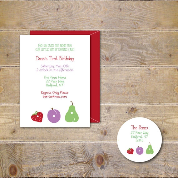 Very Hungry Caterpillar Invitations, Caterpillar Invitations, First Birthday Invitations, Boy's Birthday, Girl's Birthday-Hungry Caterpillar