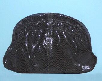Clutch / Shoulder Grey Snakeskin Purse