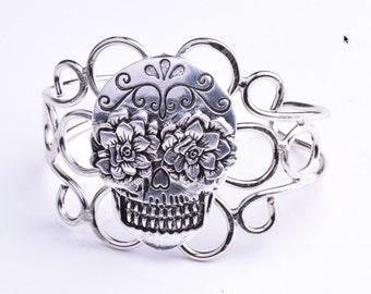 Sugar Skull Wire Cuff, Exclusive HHH Designs,ea