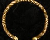 """Copper & Brass 12 strand Twist Torque (14"""")"""