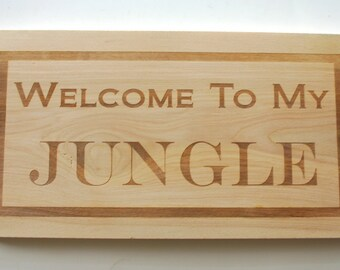 Personalized Birch Sign Laser Engraved Wood Sign Custom Engraved House Sign