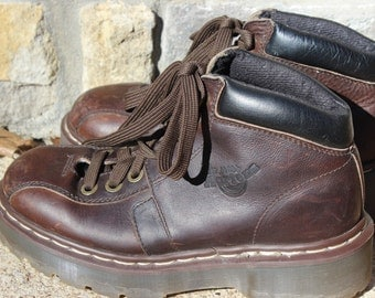 Vintage Brown Doc Marten Boots Made In England Size 5 European