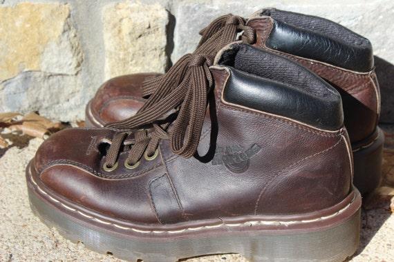 vintage brown doc marten boots made in size 5 european