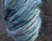 Handspun yarn, handpainted yarn,  Baby Alpaca, bulky  yarn thick and thin multiple skeins available-Stormy