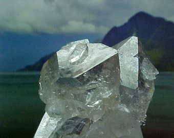 Natural Arkansas Smokey Crystal Double Terminated Cluster Fairy Dust Crystal Hand Dug in 2014 e206
