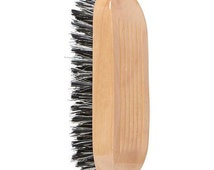 Beard Brush Comb  Natural Boar's Hair Bristles Military Style - Perfect Manly Christmas Gift - With Great Beard Comes Great Responsibility