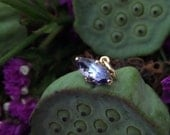 Reserved for Zinghy:  OOAK Tanzanite Marquise Pendant in 18k Yellow Gold, Ready to Ship