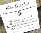 Follow Your Heart - Wish Bracelet - (True Romance) - Shown In The Color VINEYARD  - Over 100 Different Colors Are Also Available