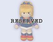 Reserved Listing for mianjohnson10 - Amigurumi Rainbow Brite Doll