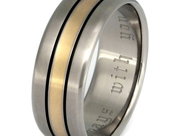 Gold Titanium Wedding Ring - Gold Band - g16
