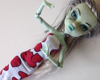 """Handmade 10""""Dal  Monster High Ever After La Dee Da Dress (Q714)"""